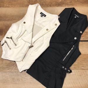 2 sets of Bebe vests